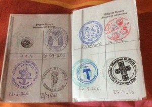 The credenziale, or pilgrim passport
