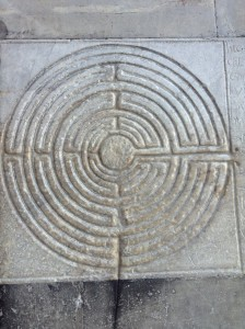 The labyrinth-a symbol of pilgrimage - seems an apt one sometimes