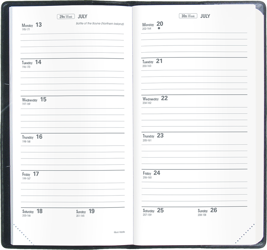 Biweek » Catalog Quo Vadis Planners, Journals  Notebooks - Printable Bi Weekly Calendar