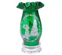 Fenton Art Glass Emerald Green Hurricane Lamp  QVC.com