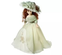 Victorian-style 16-inch Porcelain Doll Lamp  QVC.com