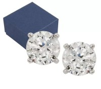 Diamonique 100-Facet 1.00 cttw Stud Earrings, Platinum ...