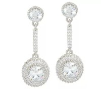 Judith Ripka Sterling 8.50 cttw Diamonique Drop Earrings ...