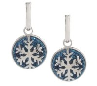 Drusy Quartz Interchangeable Snowflake Sterling Hoop