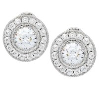 Judith Ripka Sterling 118 Facet Diamonique Stud Earrings ...
