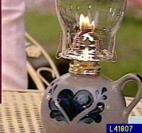 Rowe Pottery Salt Glazed Hurricane Lamp  QVC.com