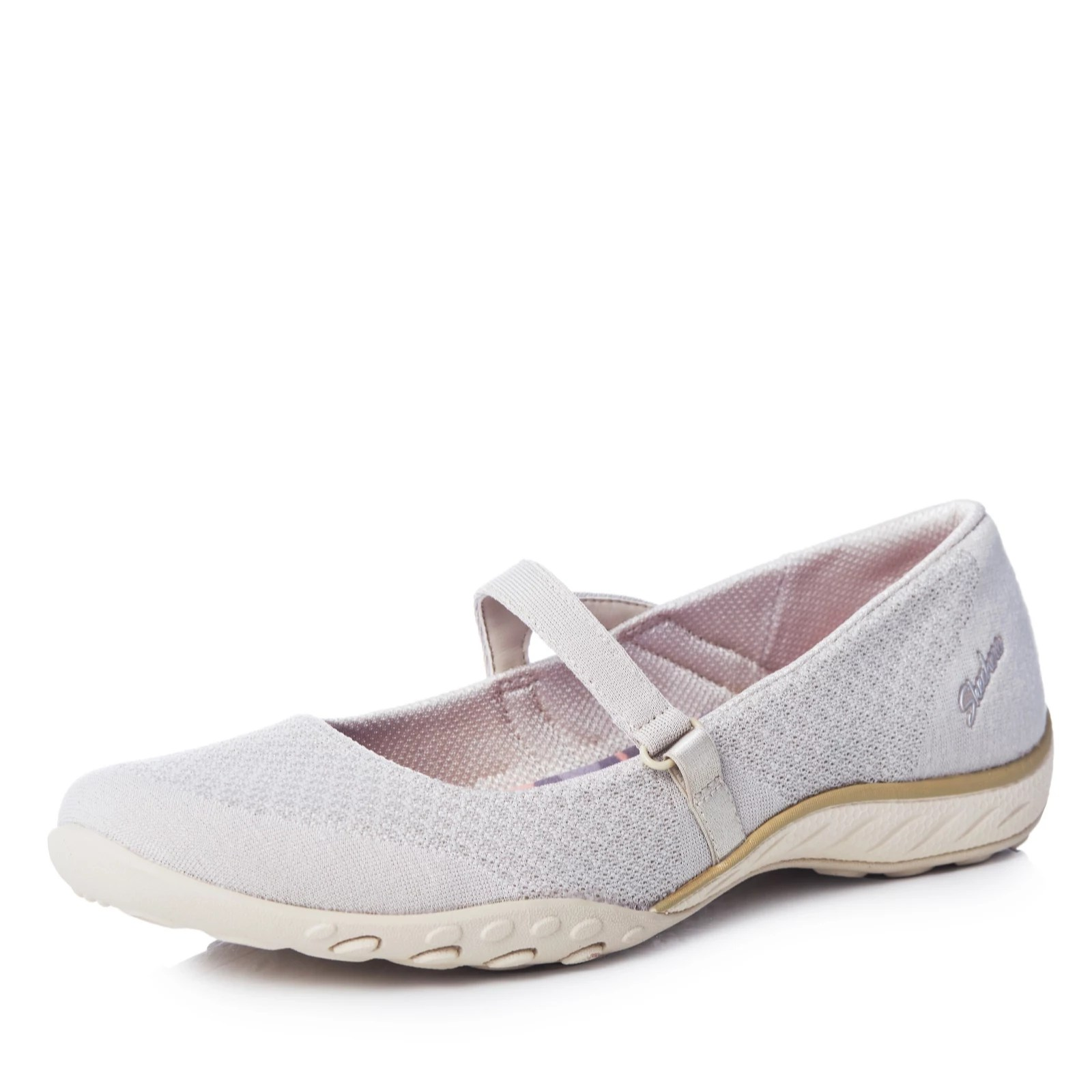 Outlet Skechers Breathe Easy Love Too Soft Knit Ballet Stap Qvc Uk