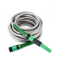 Bernini 40ft Stainless Steel No Kink Garden Hose with ...