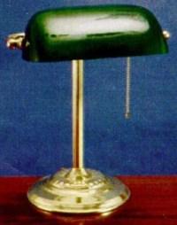 Catalina 9400 Solid Brass Banker's Lamp - GreenGlass Shade ...