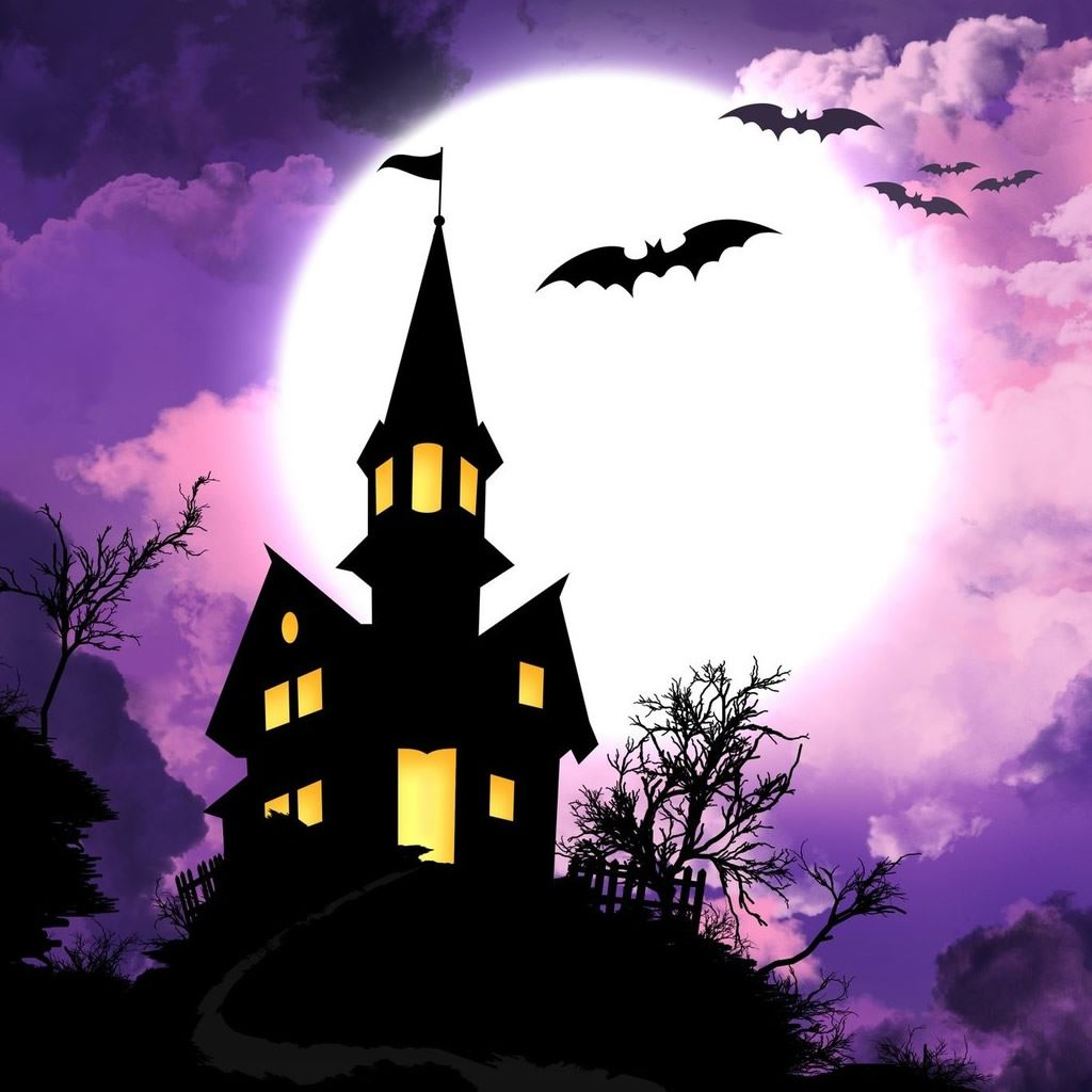 Free Fall Wallpaper For Iphone 6 Haunted Castle Holiday Hd Ipad Wallpaper Download Iphone