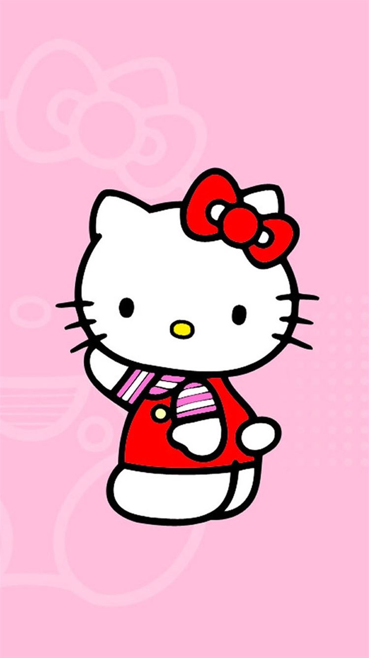 ... Cute Hello Kitty iPhone 8 wallpaper.