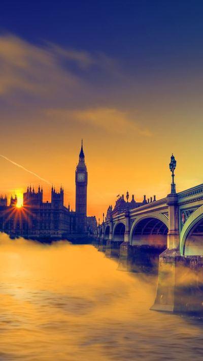 UK Sunset Big Ben Bridge iPhone se Wallpaper Download | iPhone Wallpapers, iPad wallpapers One ...