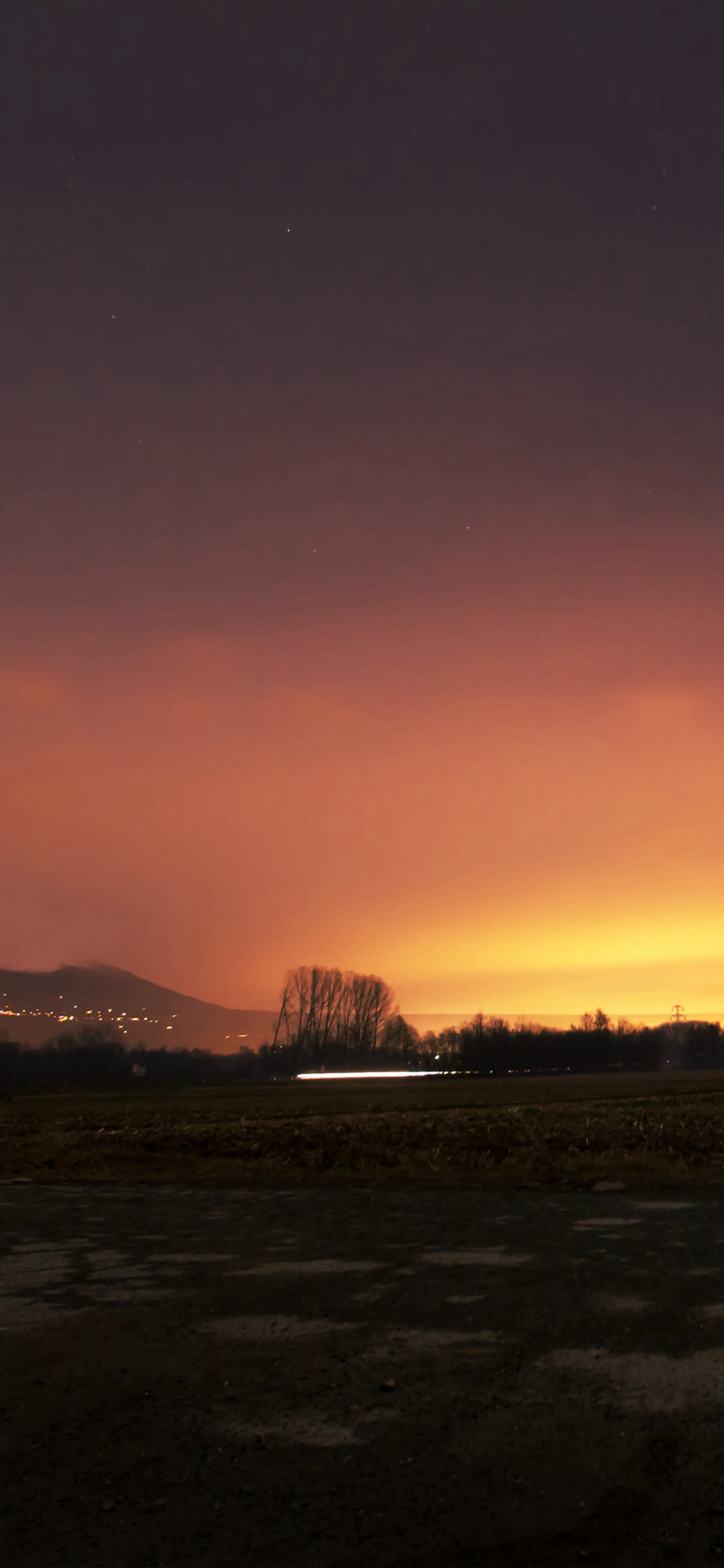 Lock Screen Wallpaper Iphone 7 Dawn Nature Sky Sunset Mountain Red Dark Iphone X