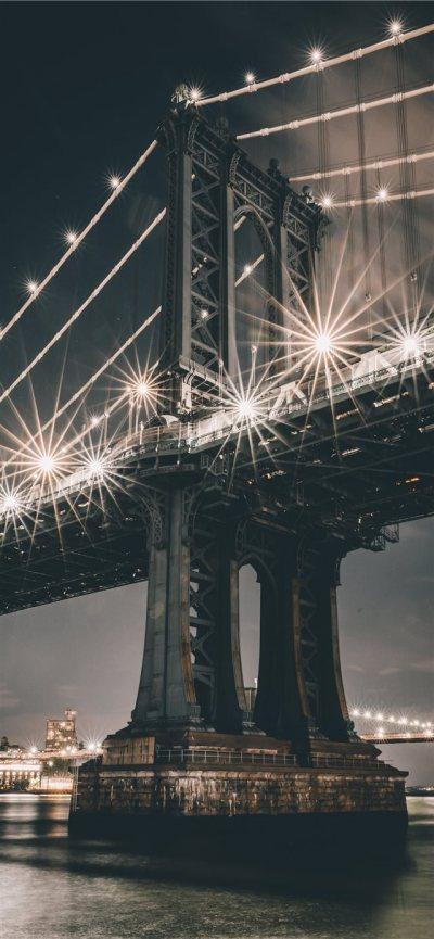 Manhattan Bridge New York United States iPhone X Wallpaper Download | iPhone Wallpapers, iPad ...