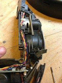 Removed the wire & right suspension tie down.