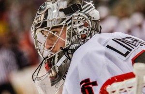 Undated courtesy photo, circa Oct. 2015 , of Charlie Lindgen, goalie for the St. Cloud State men's hockey team. Lindgren is a junior from Lakeville, Minn. Photo courtesy of St. Cloud State Athletic Media Relations.