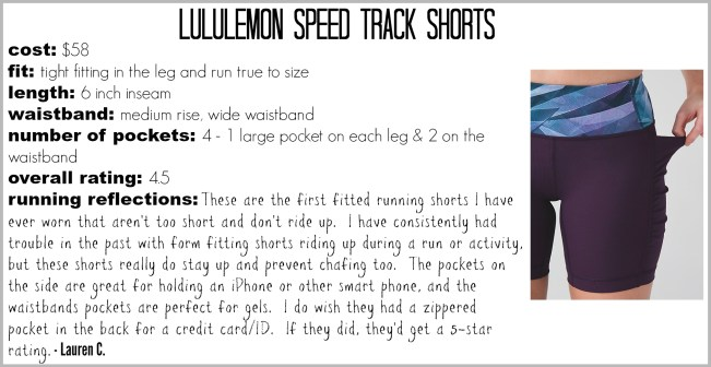 Lululemon Speed Track Shorts