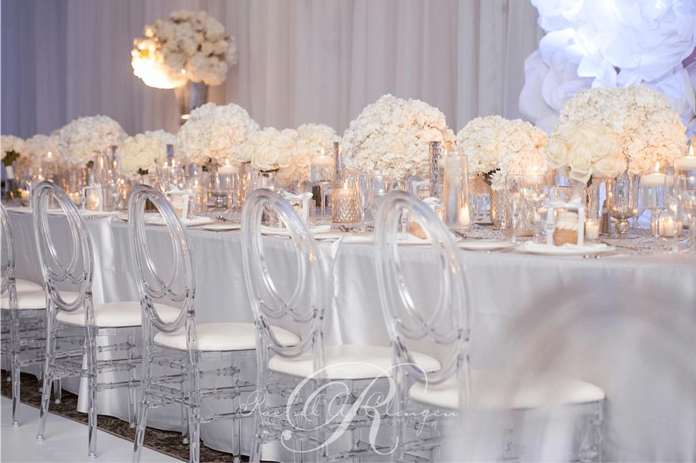 All White Wedding At Le Parc Toronto Wedding Decor