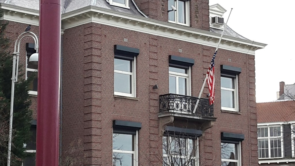 The US consulate in Amsterdam