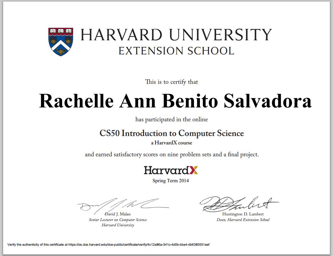 harvard extension example resume