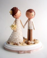 Custom Beach Cake Topper from Lollipop Workshop