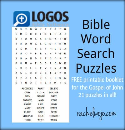 FREE Bible Word Search Puzzles - RachelWojo