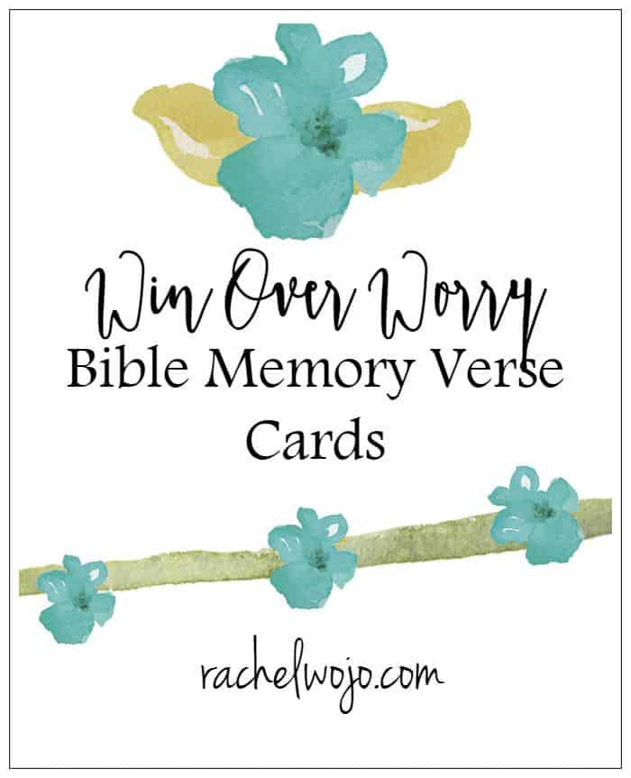 Win Over Worry Bible Memory Verse Cards - RachelWojo
