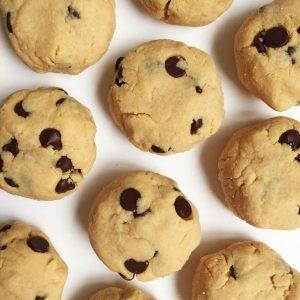 Easy Orange Chocolate Chip Cookies (v, gf)