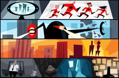 Disney Pixar Cars Mural Wallpaper Ratatouille Through The Looking Glass