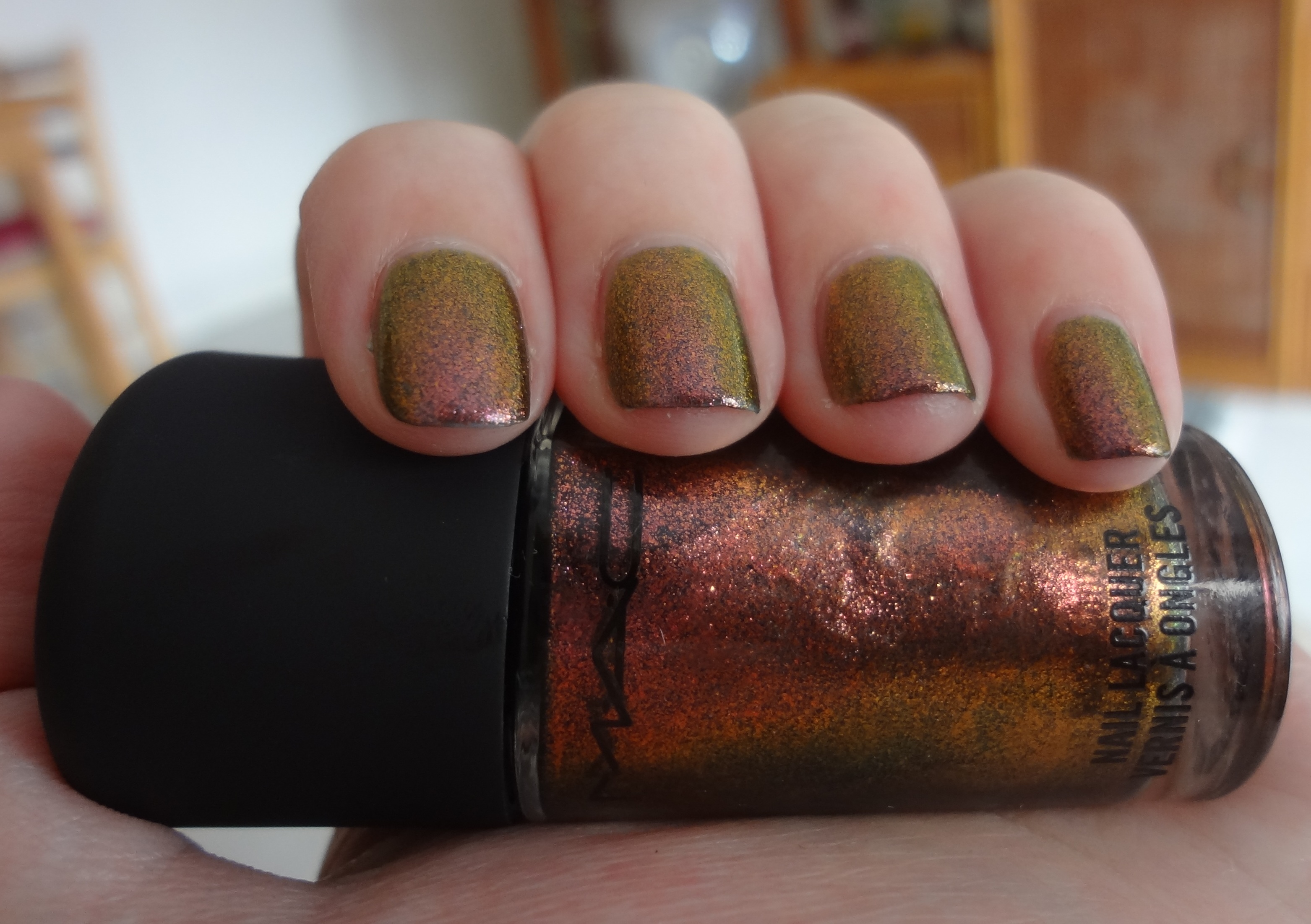 Mac Mean Green Nail Polish Review Through The Looking