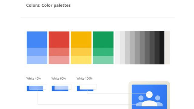 Google Design Color Palettes Diseño - UI Pinterest Design color - project design template