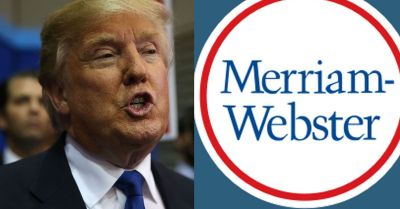 Spelling disaster Donald Trump gets schooled by Merriam-Webster on Twitter