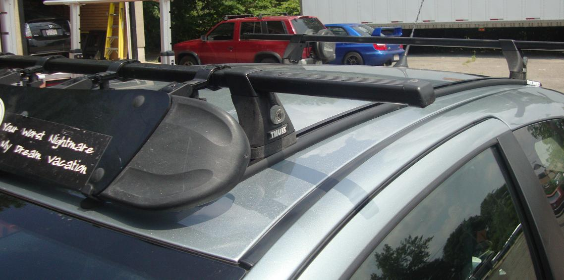 Toyota Yaris Thule 54 Inch Top Track Thule 430 Tracker