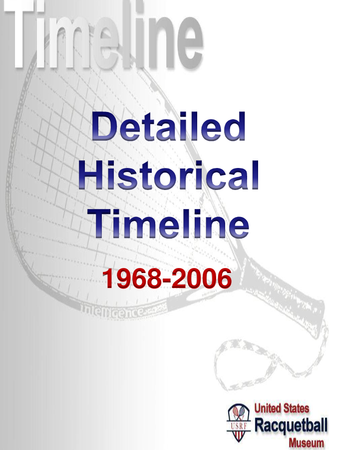 Detailed Historical Timeline \u2013 US Racquetball Museum