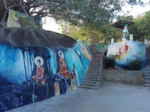 Wandverzierung im Tempeleingang