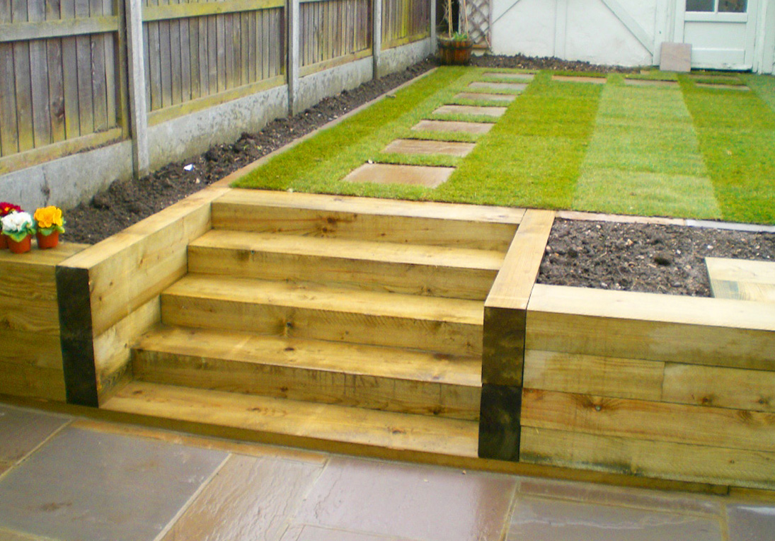 Using Railway Sleepers For Raised Vegetable Beds Hardwearing Softwood And Hardwood Railway Sleepers