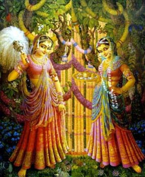 Lord Krishna With Gopis 3d Wallpaper Radhe Net Manjaris