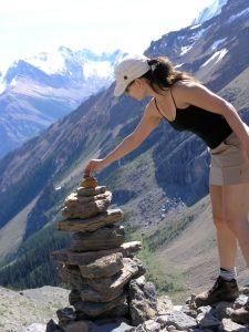Shari Feuz mountain climbing