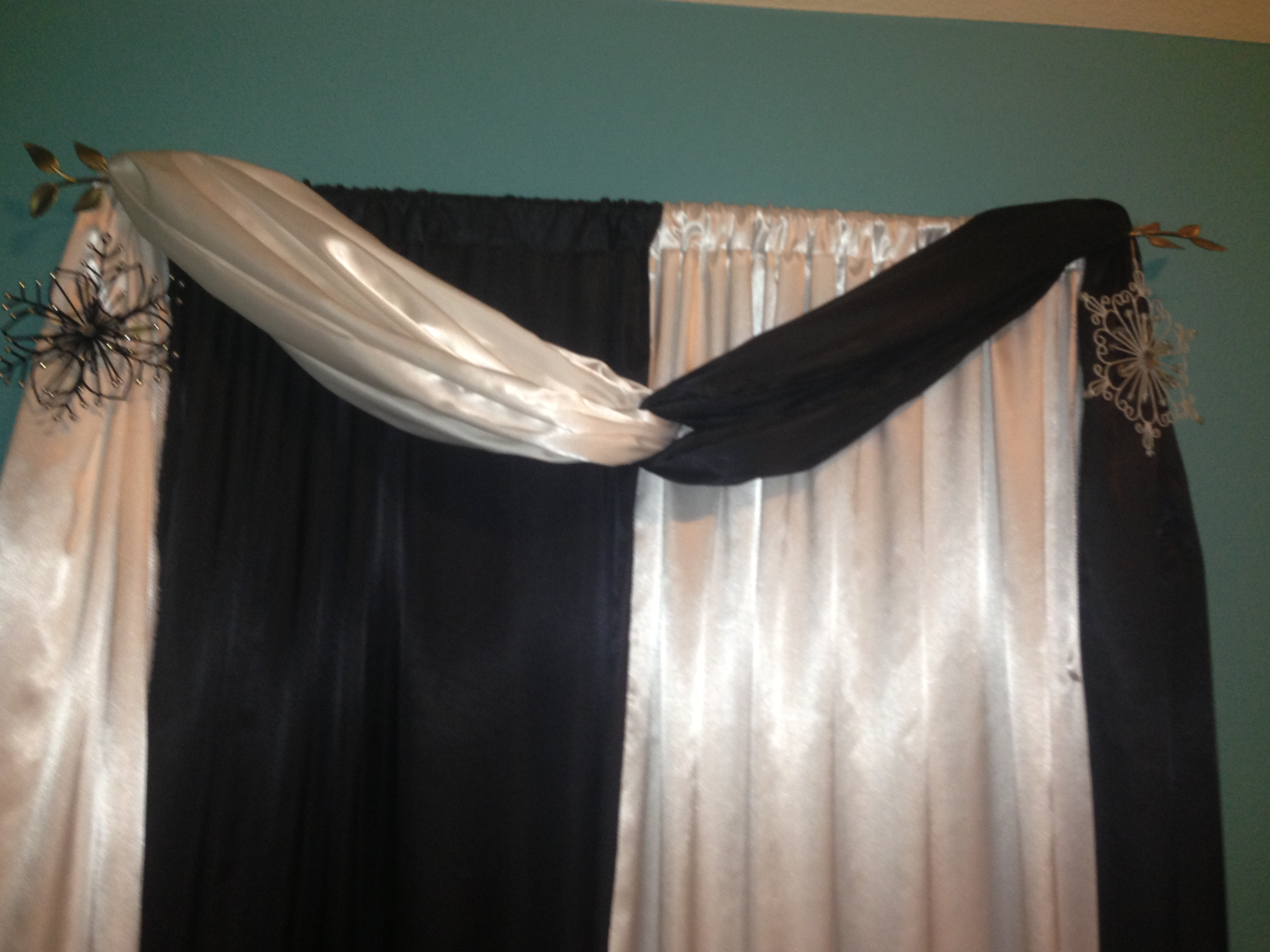 Draping Curtains How To Drape Curtains Over Rods My Web Value