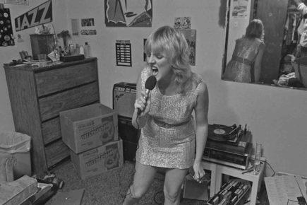 Houston punk fan at home 1980 by Ben DeSoto