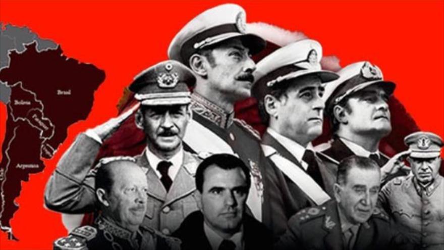 Gobiernos dictadores de América Latina que en los años 70 y 80 convirtieron al Cono Sur en campos de tortura, con múltiples desapariciones y asesinatos.