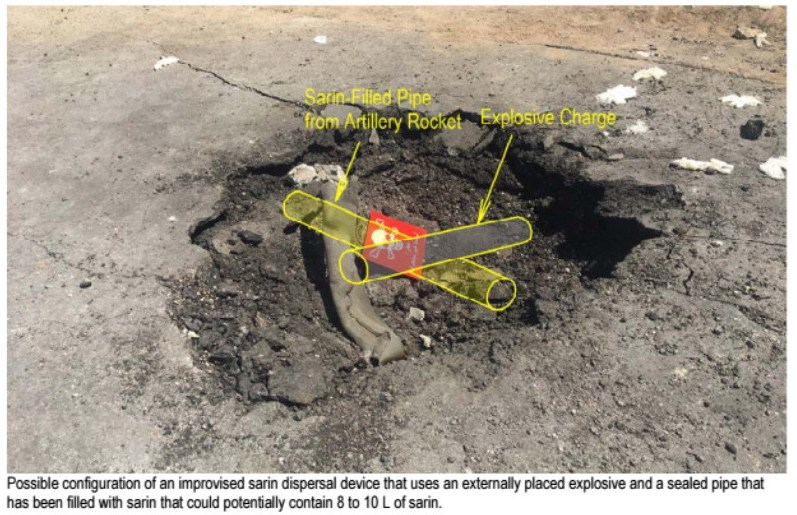 Informe ataque armas quimicas gas sarin Siria