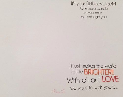 Birthday Card Wording