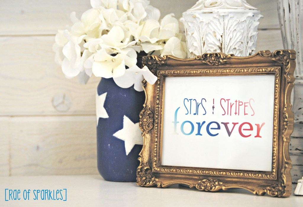 4th of July Free Printable - Stars & Stripes Forever