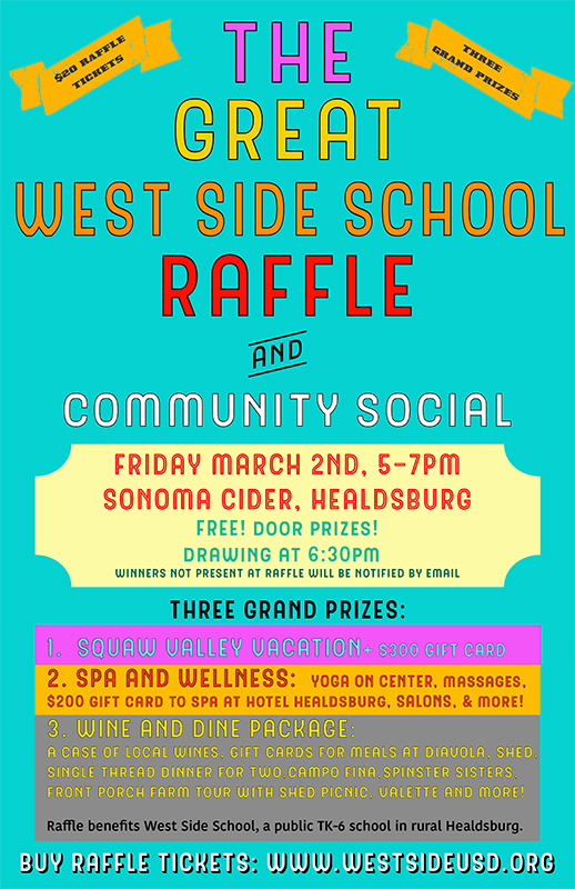 The Great West Side School Raffle Raffle Creator - raffle ticket prizes