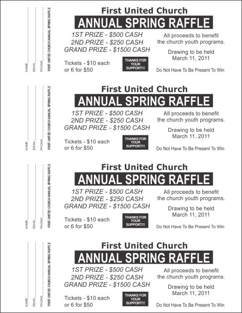 Large Raffle Ticket Templates 2 - Raffle Ticket Templates
