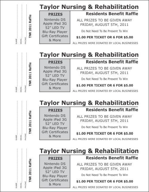 Large Raffle Ticket Templates 3 - Raffle Ticket Templates - raffle ticket prizes