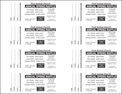 Small Raffle Ticket Template 2 - Raffle Ticket Templates - Printable Ticket Templates