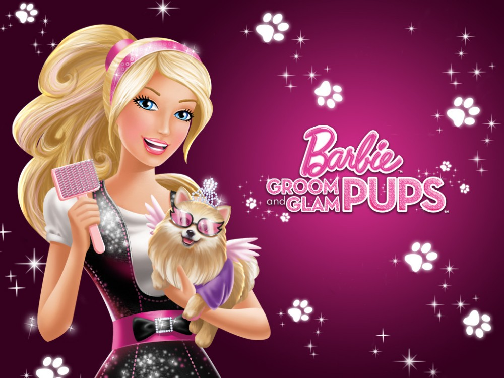 Animated Barbie Wallpaper New Kids Cartoons Barbie Groom And Glam Pups Popular