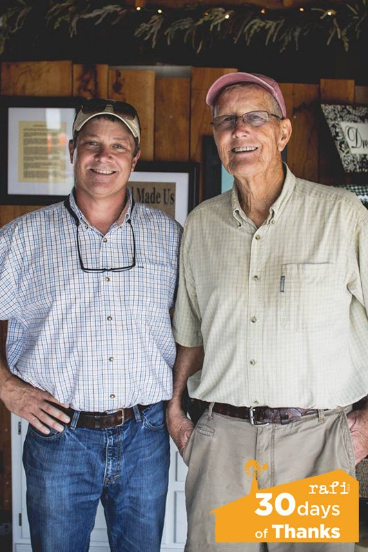 Russ Vollmer (left) and father John Vollmer of Vollmer Farms. Photo by Brandon Yow.